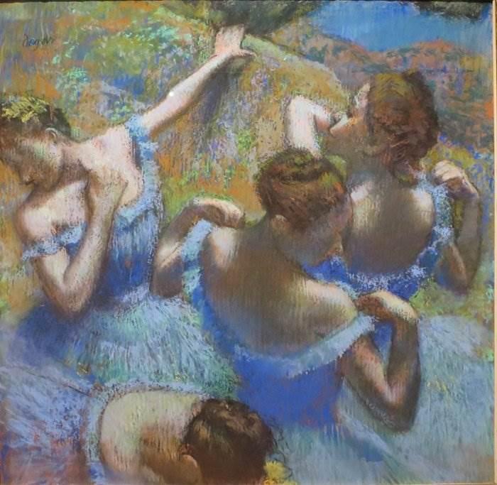 Голубые танцовщицы Эдгар Дега