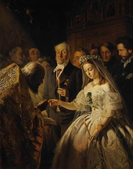 Картина «Неравный брак» Василий Пукирев