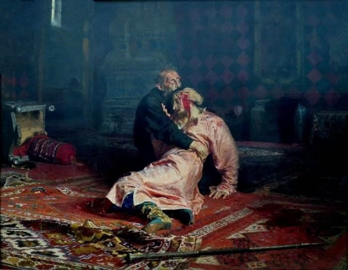 Репин: Иван Грозный убивает своего сына