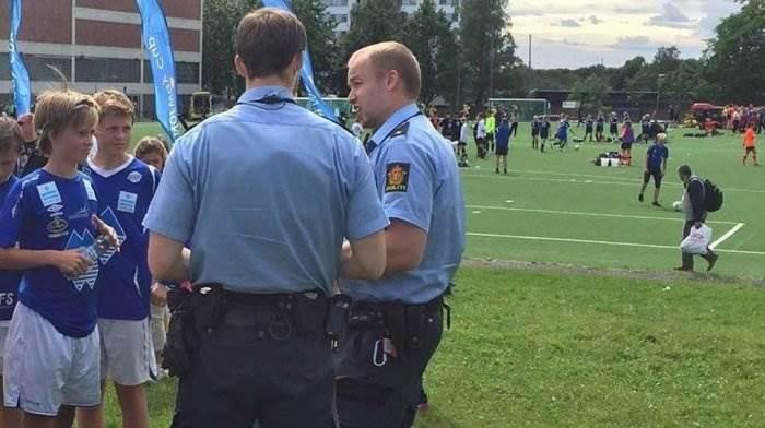 Драка юных футболистов в Норвегии