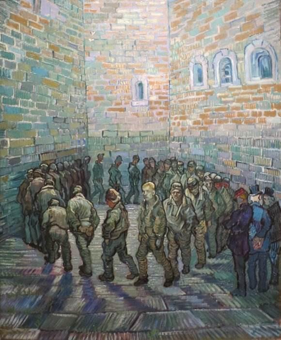 Прогулка заключенных Ван Гог