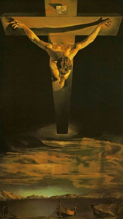Христос святого Хуана де ла Крус картина Дали