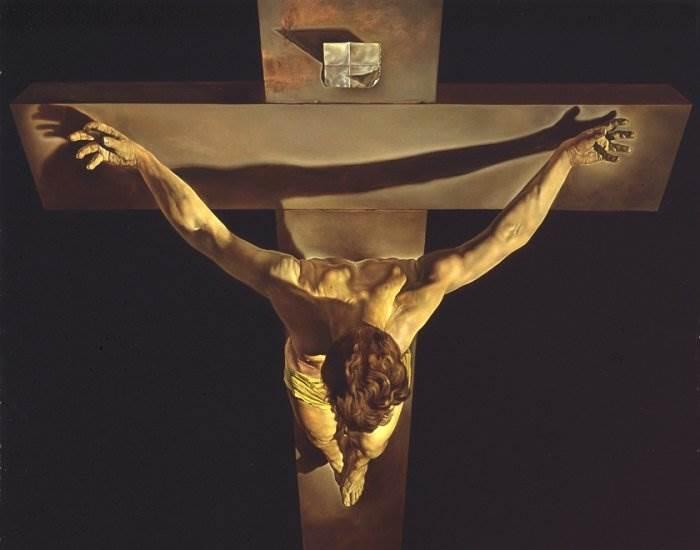 Христос святого Хуана де ла Крус фрагмент картины