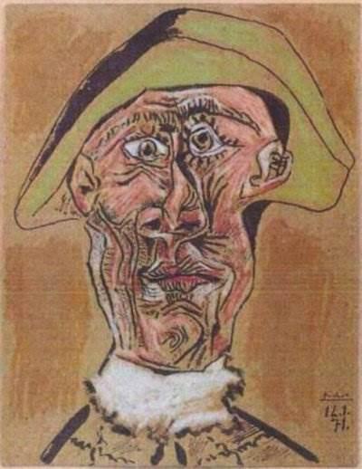 Голова Арлекина картина Пикассо