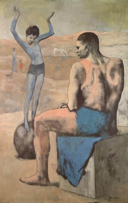 Девочка на шаре картина Пикассо