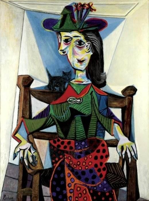 Дора Маар с кошкой картина Пикассо