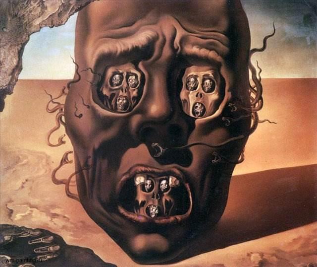 Лицо войны картина Сальвадора Дали