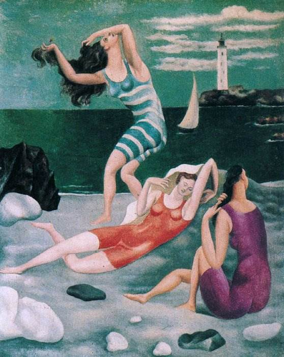 Купальщицы картина Пабло Пикассо
