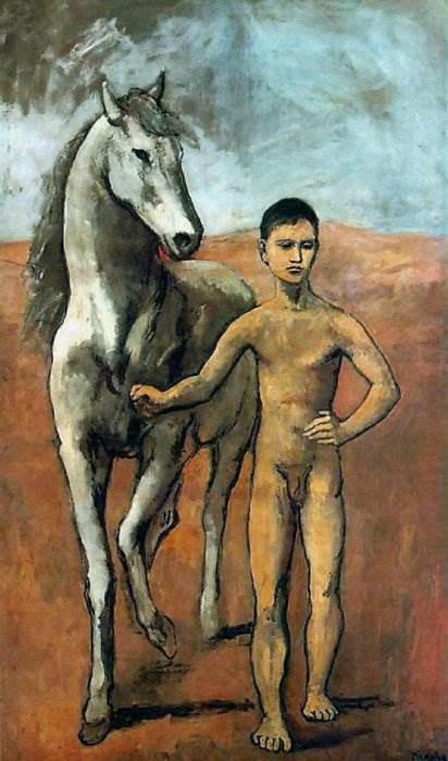 Мальчик, ведущий лошадь картина Пабло Пикассо