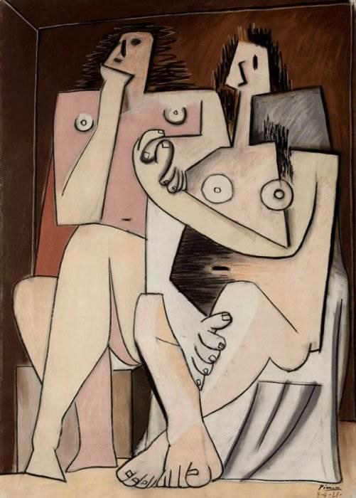 Мужчина и женщина картина Пабло Пикассо