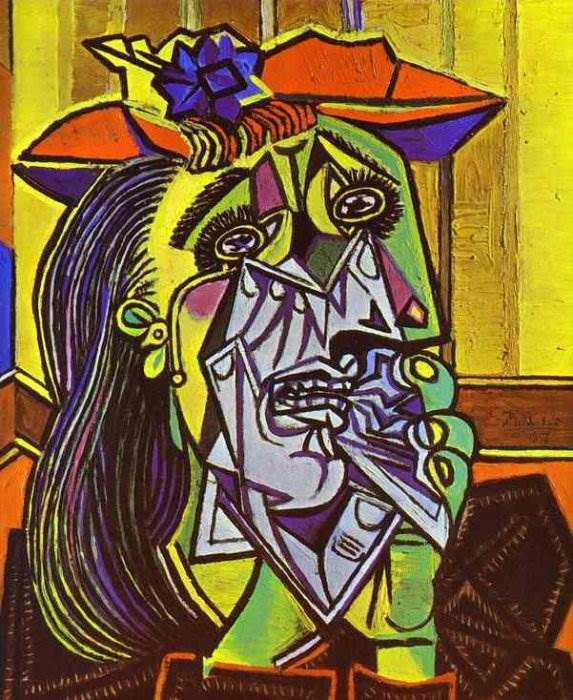Плачущая женщина картина Пабло Пикассо