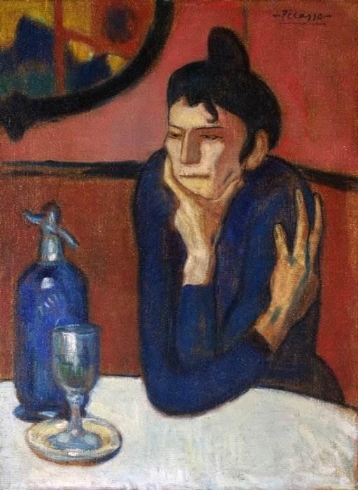 Любительница абсента картина Пикассо