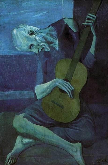 Старый гитарист картина Пабло Пикассо