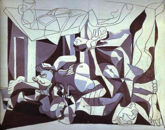 Пабло Пикассо картина Склеп