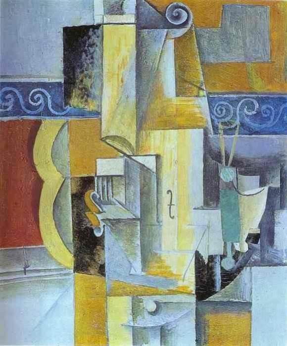 Гитара и скрипка картина Пабло Пикассо