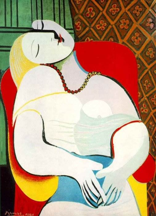 Сон картина Пабло Пикассо