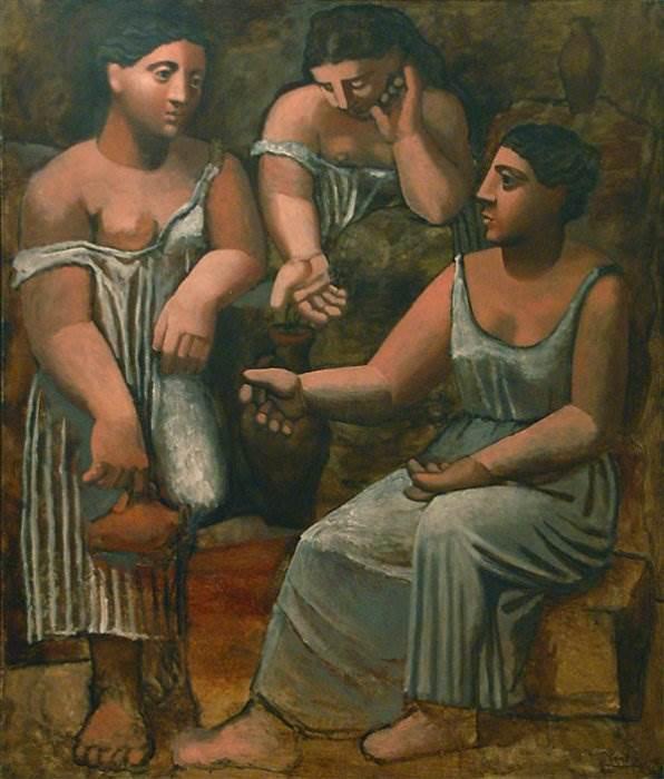 Три женщины у источника картина Пабло Пикассо