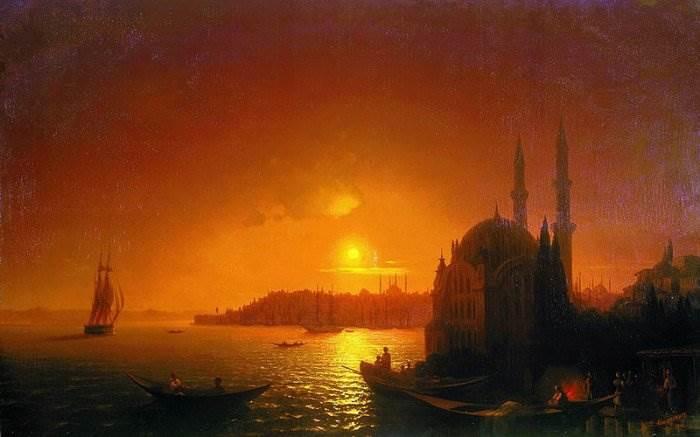 Вид Константинополя картина Айвазовского