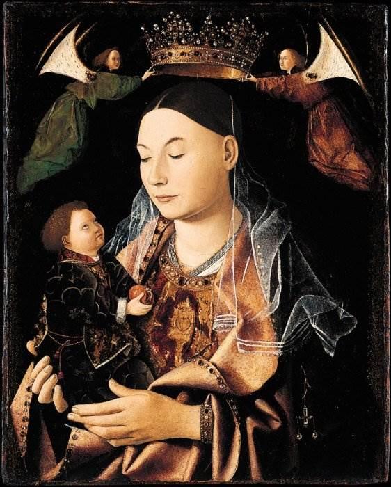 Антонелло да Мессина - Мадонна с младенцем