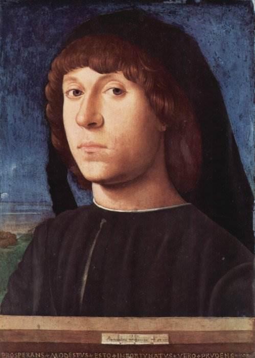 Антонелло да Мессина - Портрет молодого человека