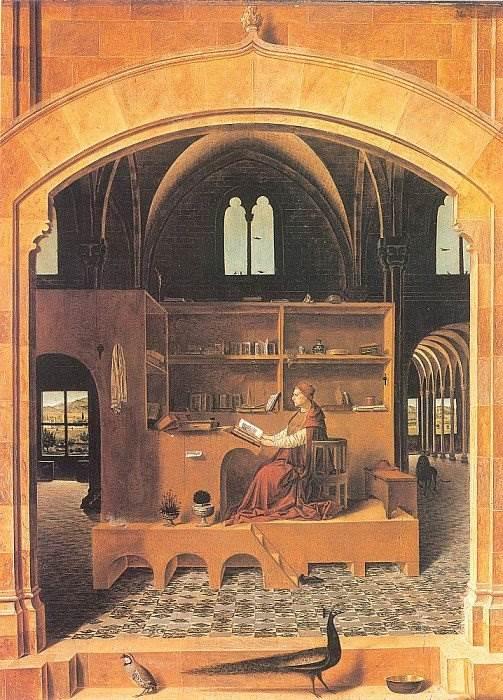 Антонелло да Мессина - Святой Иероним в келье