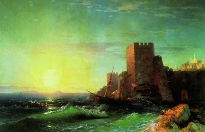 Башни на скале у Босфора - Айвазовский