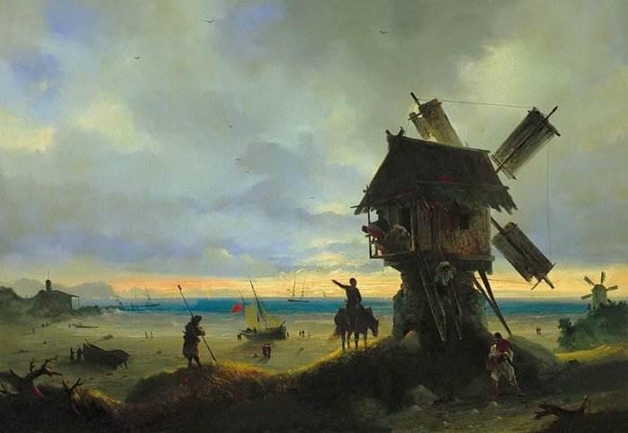 Айвазовский - Ветряная мельница