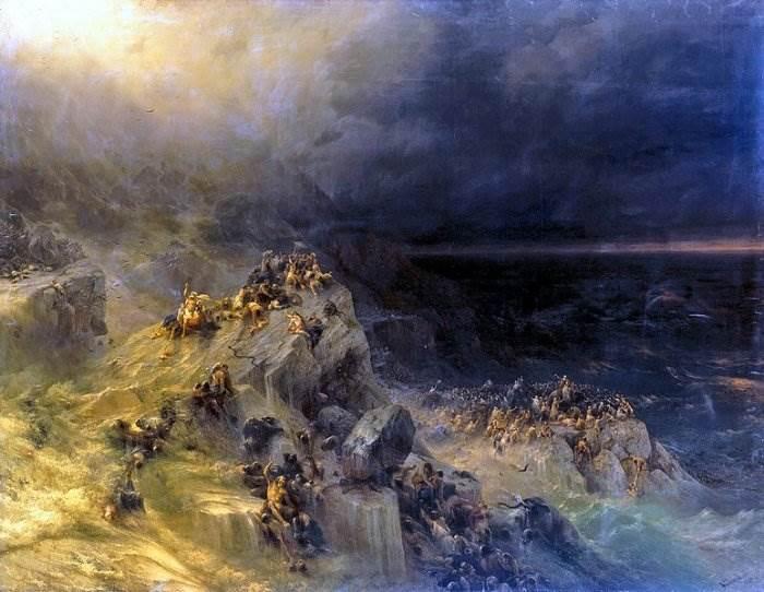 Всемирный потоп картина Айвазовского