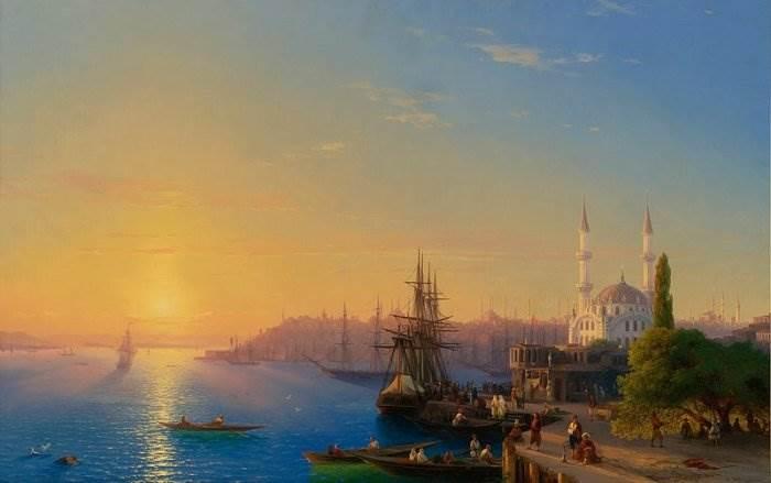 Айвазовский - Вид на Константинополь и бухту Золотой Рог