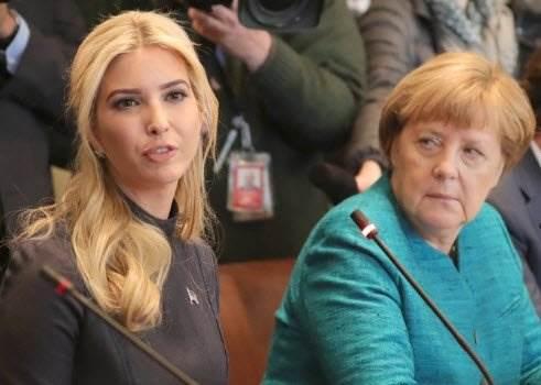 Взгляд Меркель на Иванку Трамп