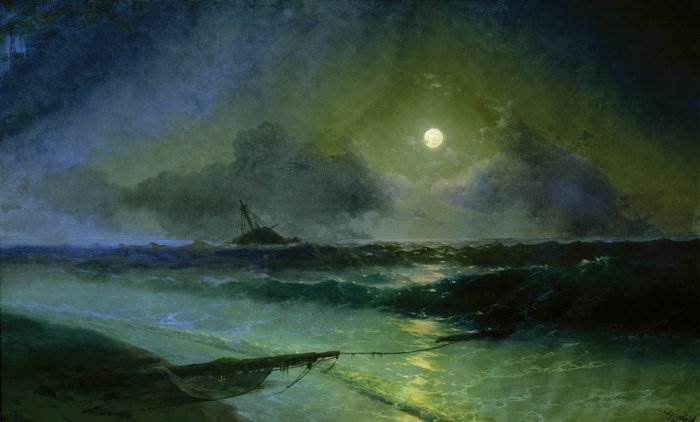 Айвазовский - Восход луны в Феодосии
