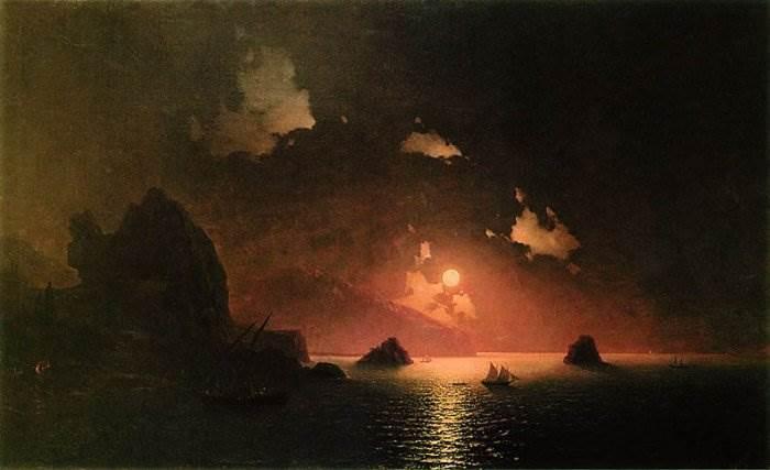Гурзуф ночью картина Айвазовского