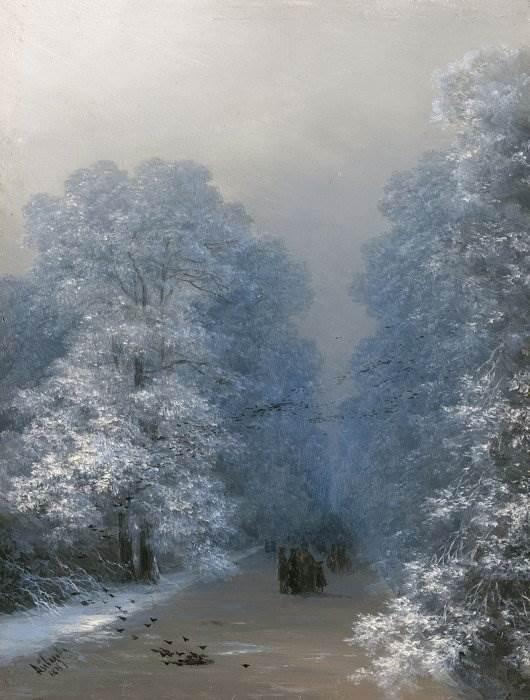 Айвазовский - Зимний пейзаж