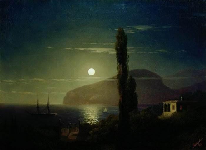 Айвазовский - Лунная ночь в Крыму