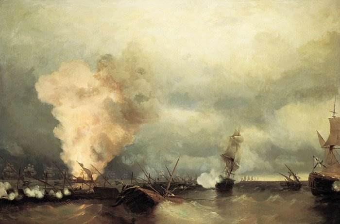 Айвазовский - Выборгское морское сражение