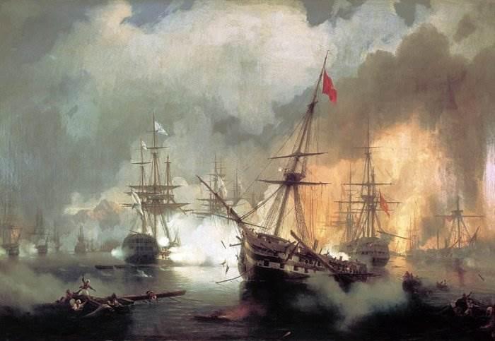 Айвазовский - Морское сражение при Наварине