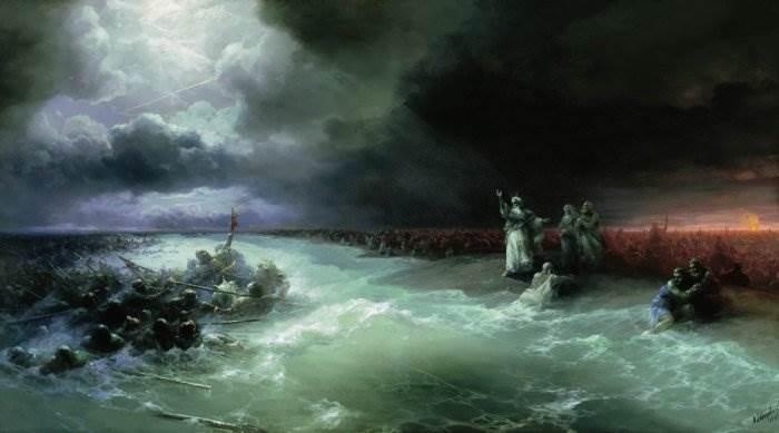 Айвазовский - Переход евреев через Красное море