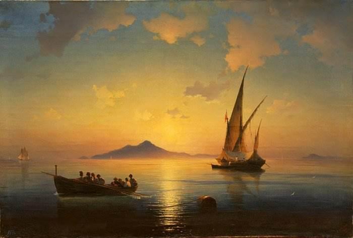 Неаполитанский залив - Айвазовский
