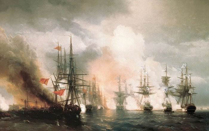 Айвазовский - Синопский бой