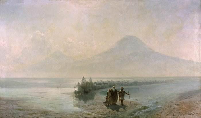 Айвазовский - Сошествие Ноя с горы Арарат