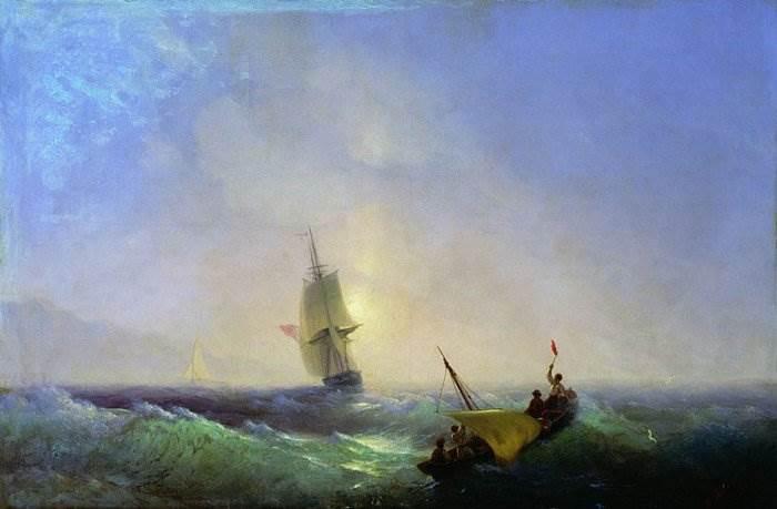 Айвазовский - Спасающиеся от кораблекрушения
