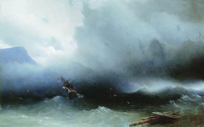 Айвазовский - Ураган на море