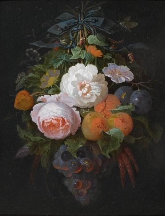 Абрахам Миньон - Букет цветов и фруктов