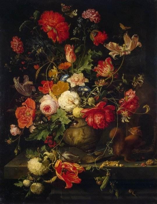 Абрахам Миньон - Ваза с цветами