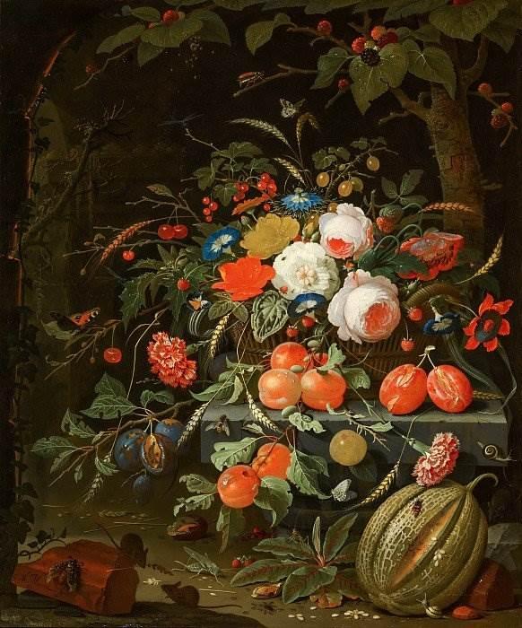 Абрахам Миньон - Цветы и фрукты