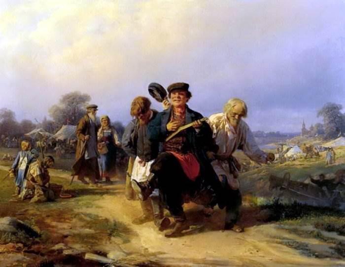 Корзухин - Возвращение отца семейства с ярмарки
