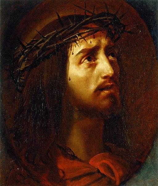 Брюллов - Голова Христа в терновом венце
