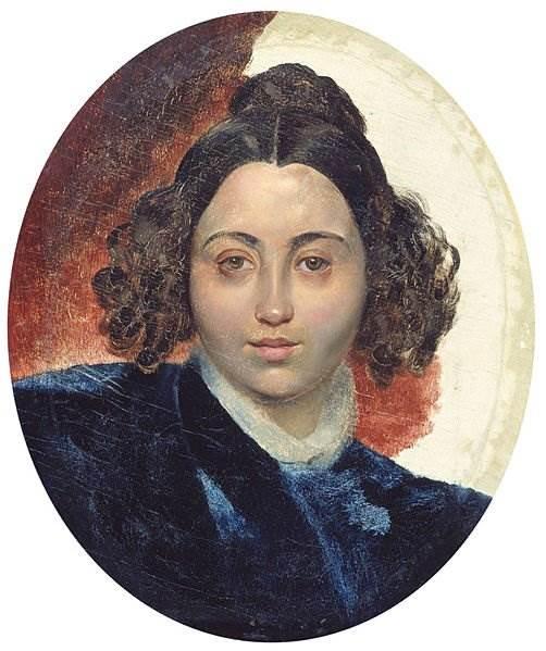 Брюллов - Портрет баронессы И. И. Клодт