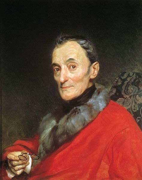 Брюллов - Портрет археолога Микеланджело Ланчи