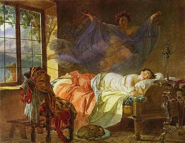 Брюллов - Сон молодой девушки перед рассветом